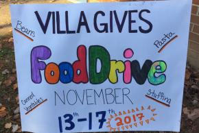 poster about food drive